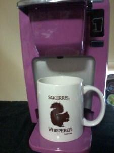 Posing with Emmett, my Keurig :)  I got her this!