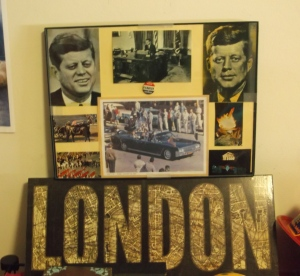 My grandfather made me this brilliant collage as a back-to-school gift-  he's fostered a love of history in me for years, and Kennedy's no exception!