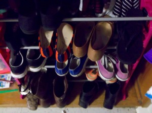 My shoe collection is miniscule compared to many, or so Hollywood claims.