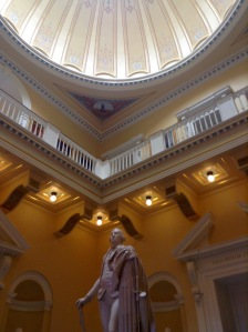 George Washington observing the lovely dome ceiling.