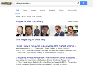 Harry and I now come up together in Google. #truelove