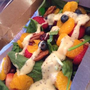 Like this wonderful Spinach Fruit Salad!