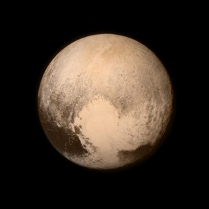 Check out this picture of Pluto taken by  New Horizon's recent flyby.  This is pretty freaking cool.